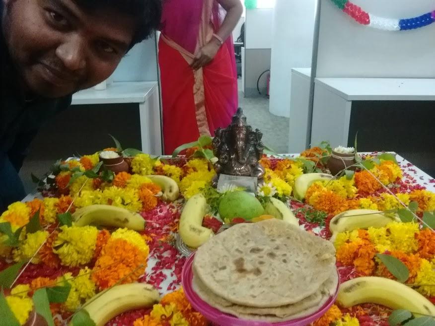 Ganapathi pooja at office